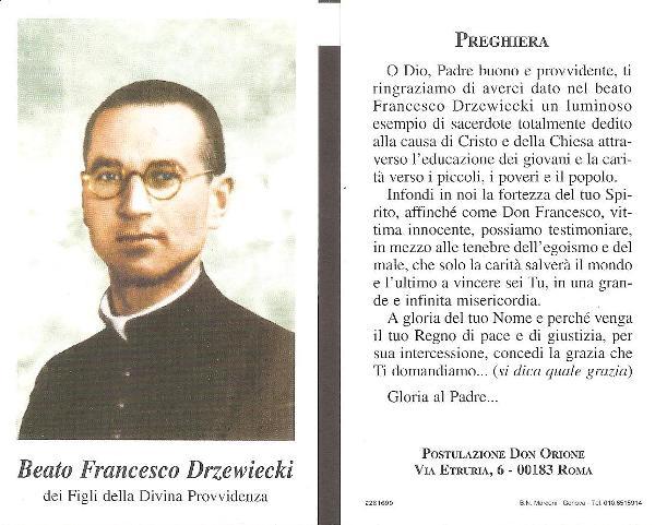 Francesco Drzewiecki PREGHIERA