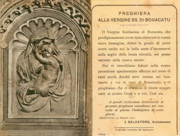 preghiera Vergine Bonacatu