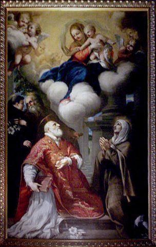 lorenzo Berrettini-Madonna con il Bambino e i santi
