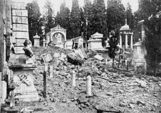 Chiesa di S. Lorenzo al Verano dopo il bombardamento